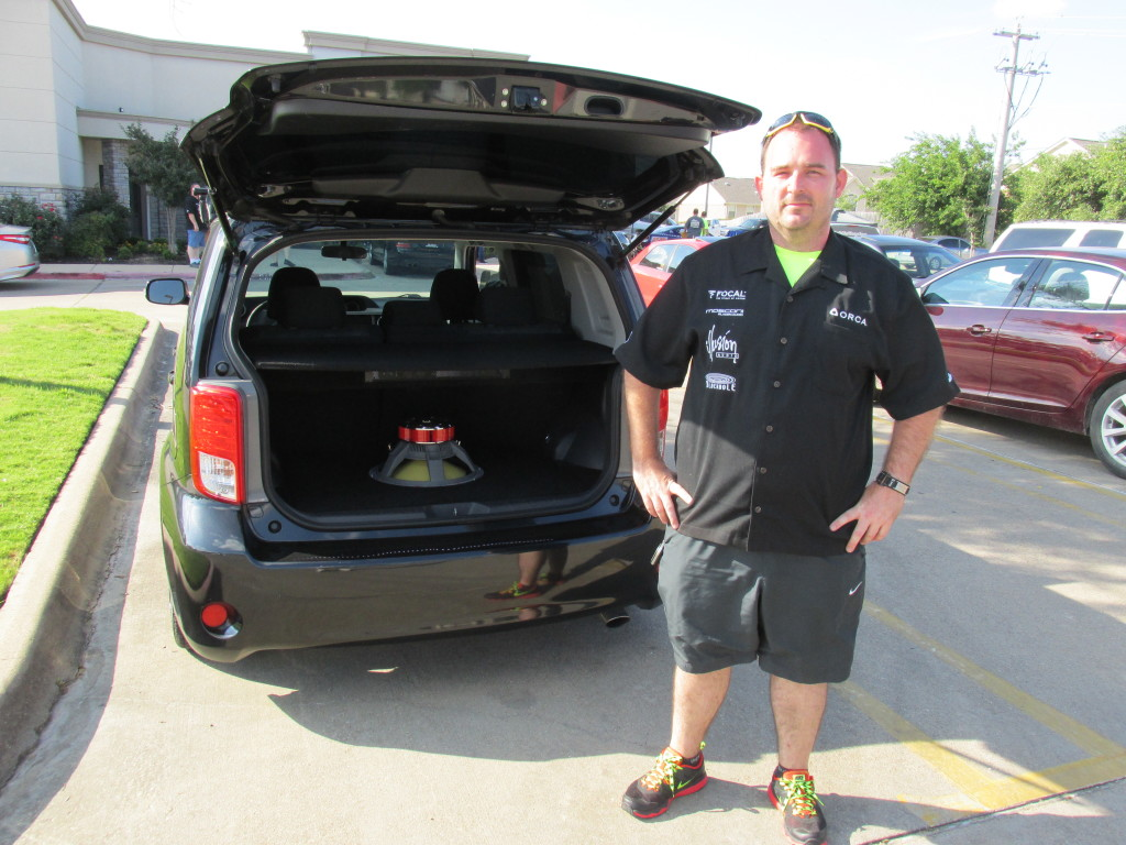 John Cosby, 2011 Scion XB Products Used: 2 Illusion Audio CuBe tweeters, 1 Focal 40 KX Subwoofer