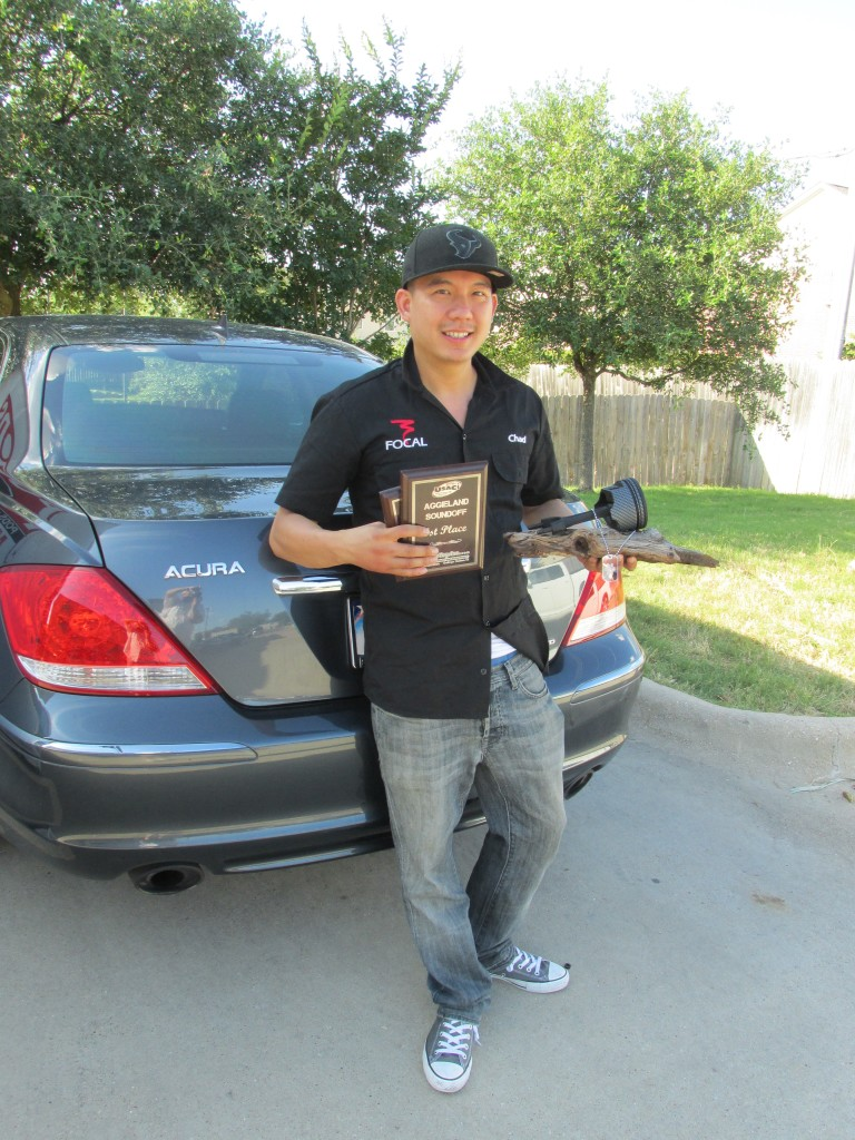 Chad Bui, 2006 Acura RL Products Used: 2 Focal TBe tweeters, 2 Focal 6W2 Midbass speakers, 1 Illusion Audio C10 XL subwoofer, 1 Mosconi 6 to 8V8 W/ AMAS, Black Hole Tile